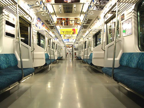 empty yamanote line train