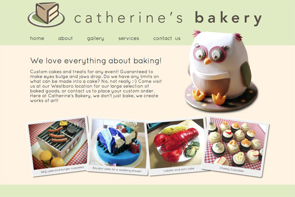 catherine's bakery website