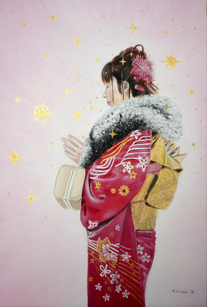 girl kimono hopes dreams painting