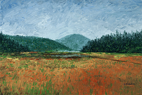 oze national park palette knife painting