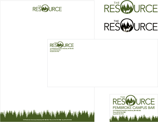 resource logo design package algonquin college bar lounge pembroke