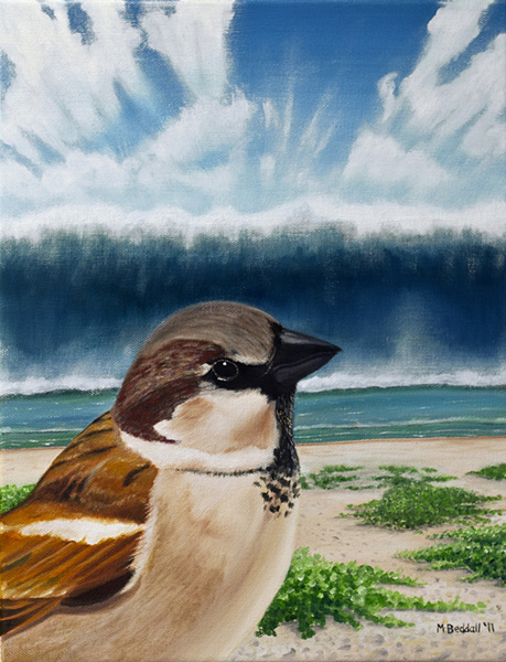 sparrow tsunami painting