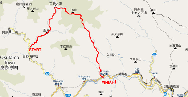 kawanori hiking map