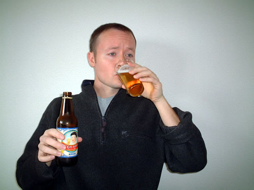 Mike Drinking Kid's Beer