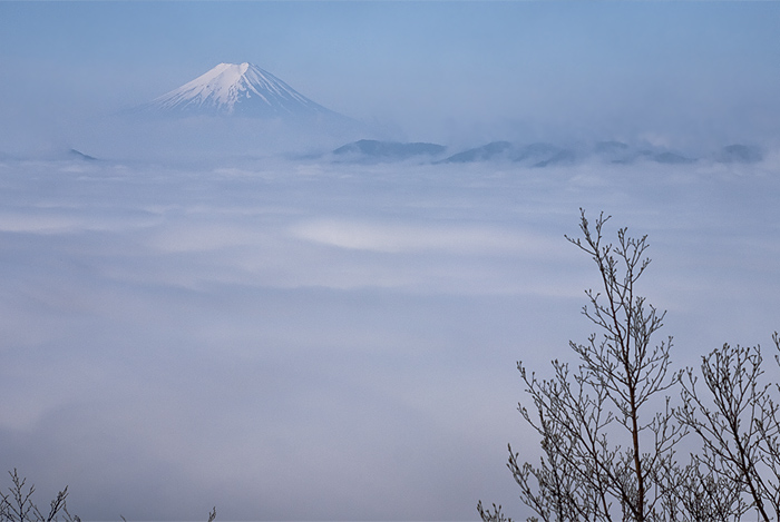 view of fuji from kumotori