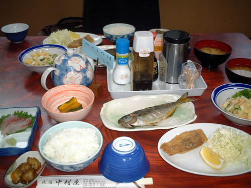 shikinejima fish dinner